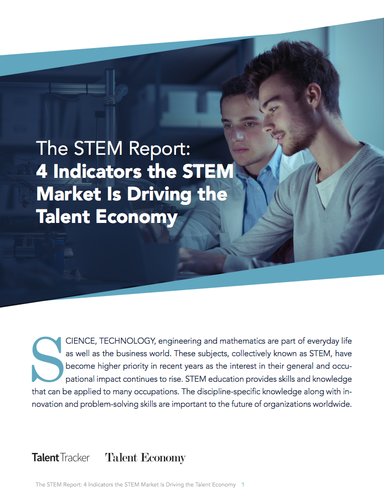 4 Indicators The STEM Market is Driving the Talent Economy